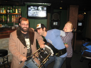 Me being attacked during my Stand-Up Comedy Federation Show