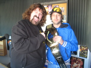 Me and Mick at the Radio Station